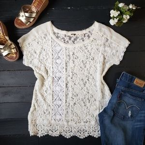 🌸 Miss Me Crochet and Lace Blouse